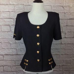 St John Cardigan Sweater Santana Women 8 Black